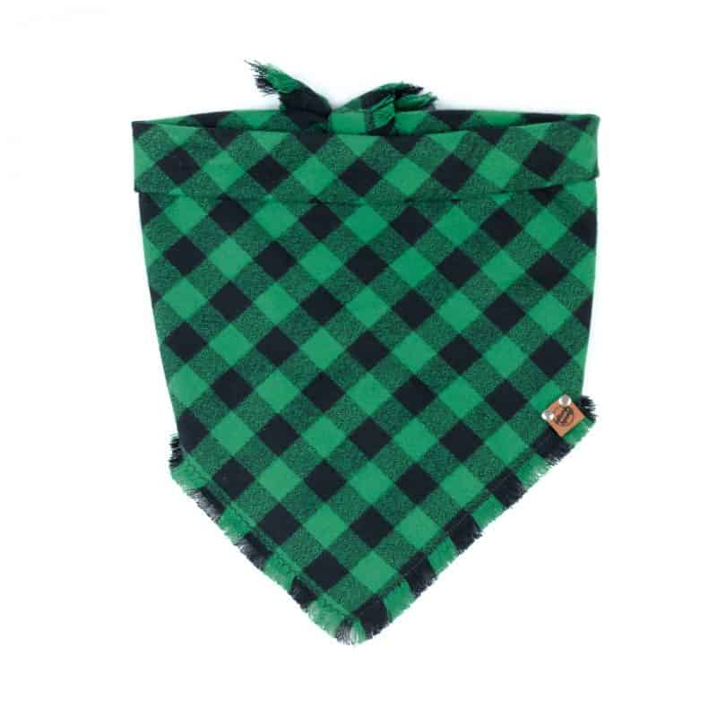 Shamrock Frayed Dog Bandana
