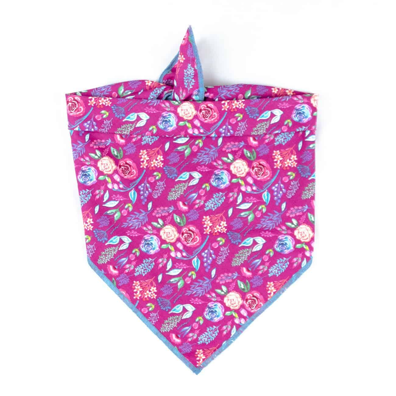 Wine colored floral bandana
