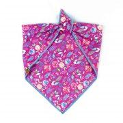 Wine colored floral bandana