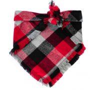 Red, Black, White, Grey Buffalo Plaid Dog Bandana