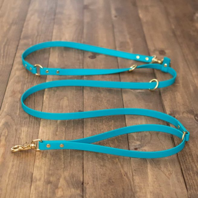 Turquoise 9-Way Hands-Free Dog Leash