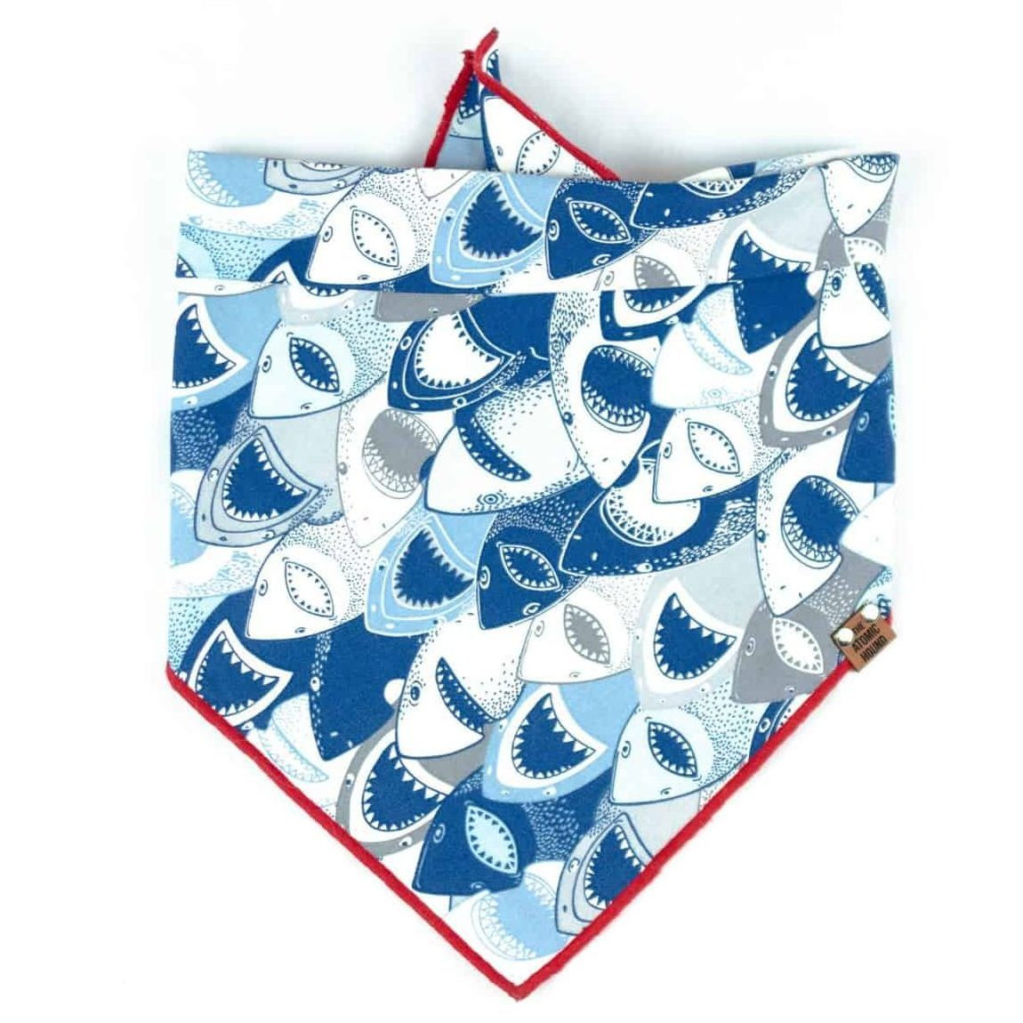 Navy, Light Blue, White, Grey Shark Dog Bandana