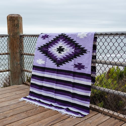 Purple and lavender mexican blanket