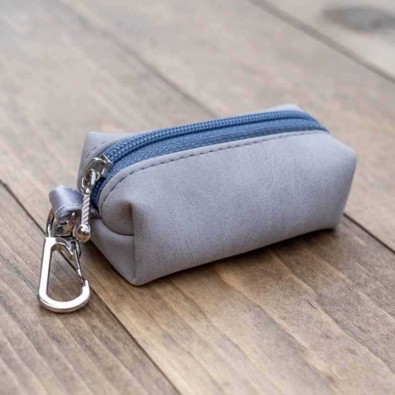 Grey Nubuck Poop Bag Holder