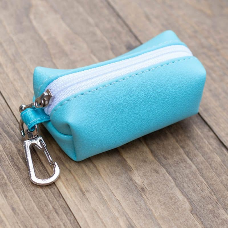 Light Turquoise Poop Bag Holder