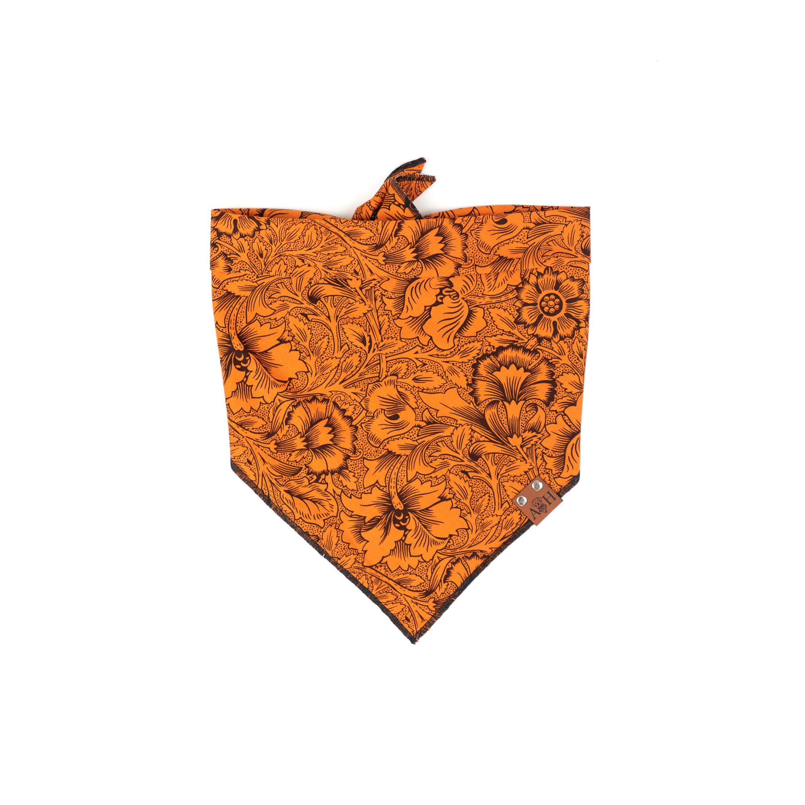 Black and orange floral halloween fall bandana