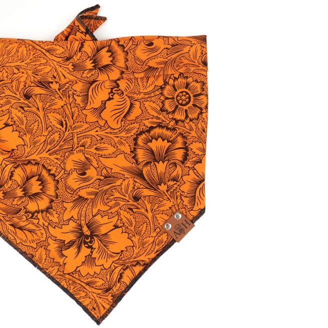 Black and orange floral halloween fall bandana