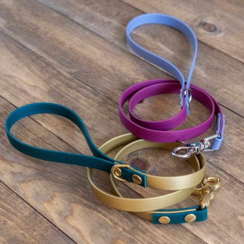 Green and Gold and Gray and Wine Multi-Colored Standard Dog Leash
