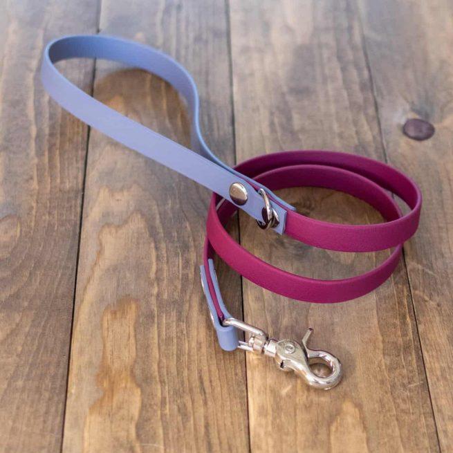 Gray and Wine Multi-Colored Standard Dog Leash