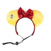 Yellow Ears with bee and red bow