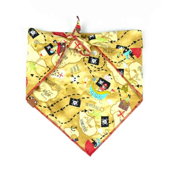 Gold Pirate Map Dog Bandana