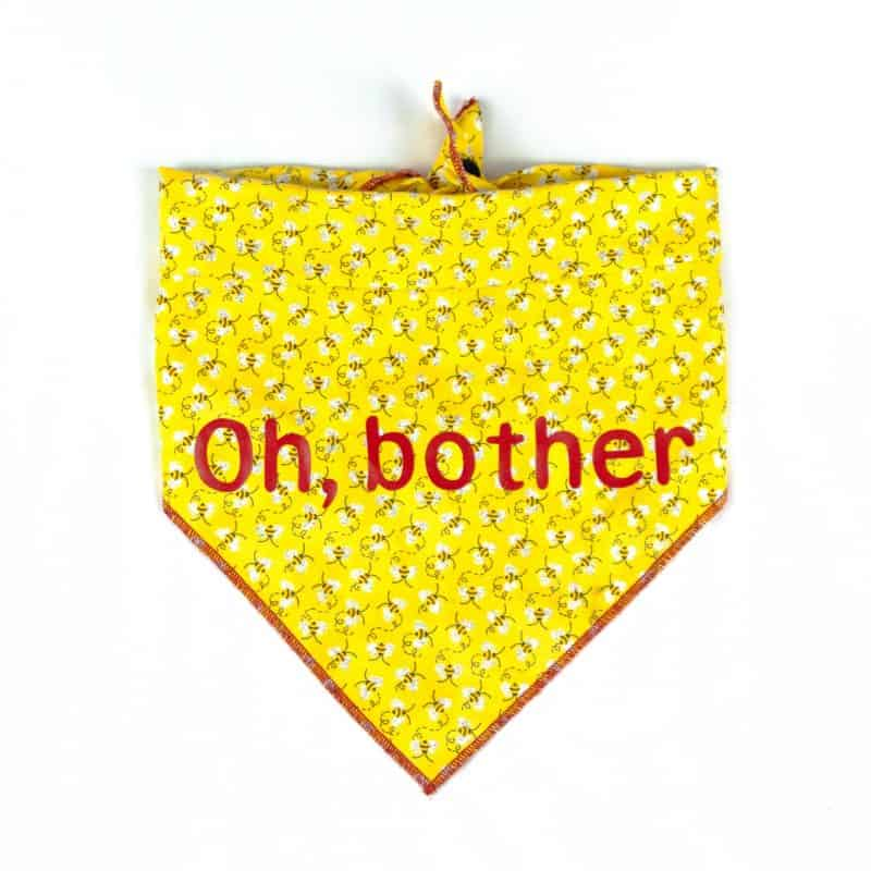 """Oh, Bother"" Bee Dog Bandana"