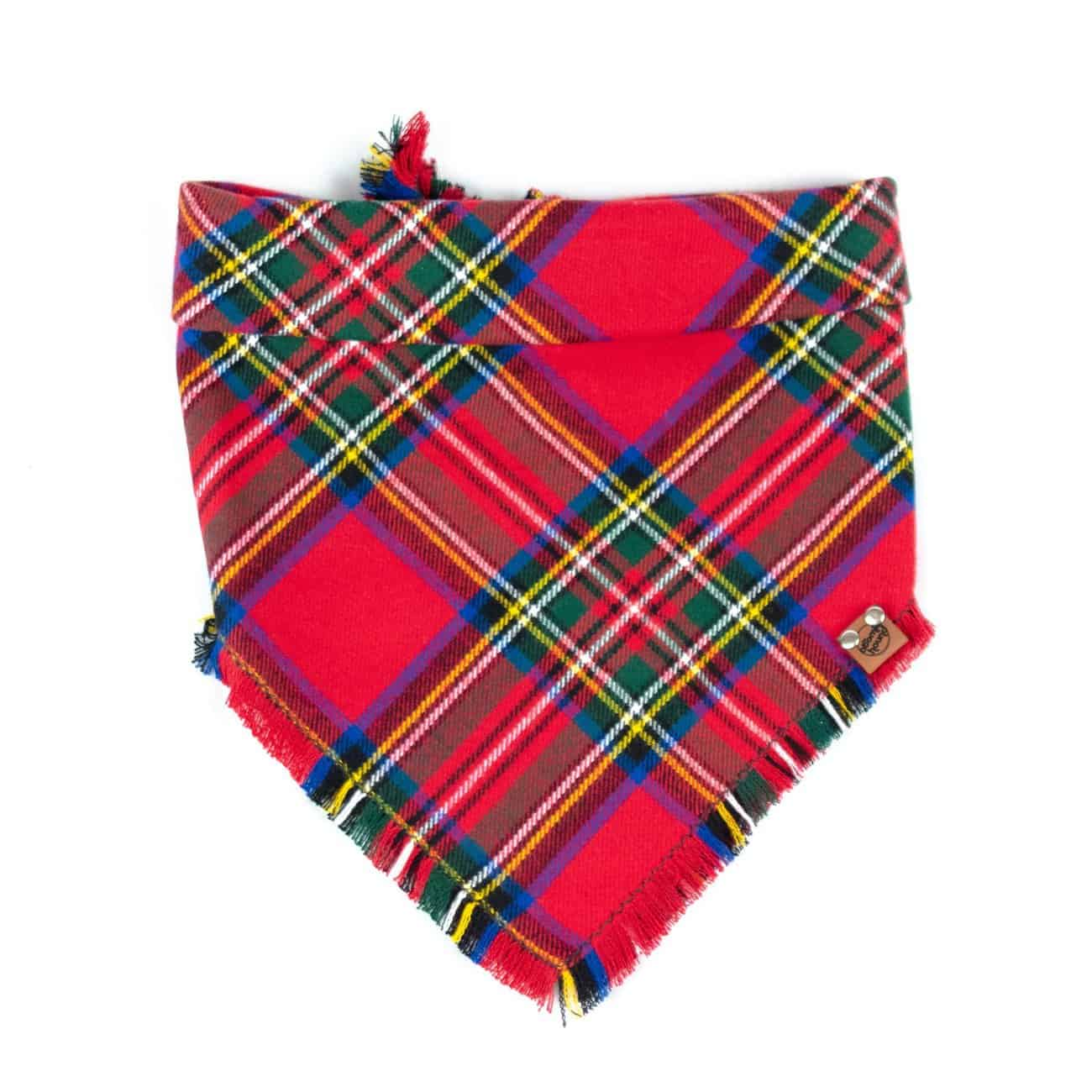 Red, Green, Yellow and Blue Christmas Dog Bandana