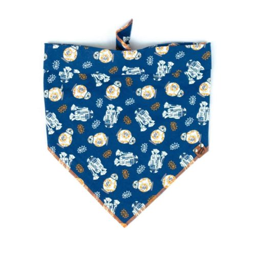 Blue Star Wars Dog Bandana with R2D2 and BB8