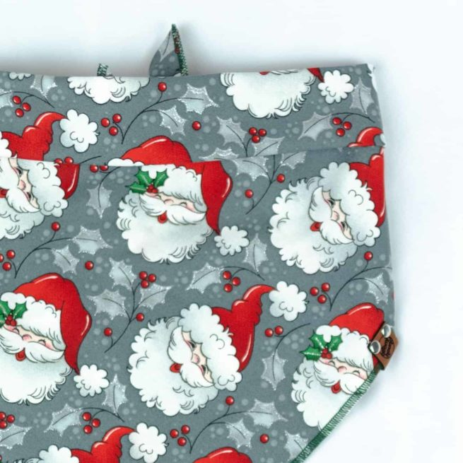 retro christmas santa dog bandana