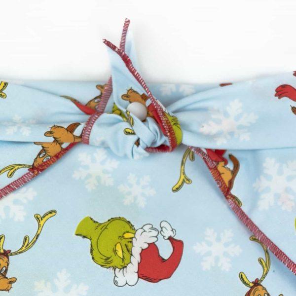Light Blue Grinch and Max Dog Christmas Bandana