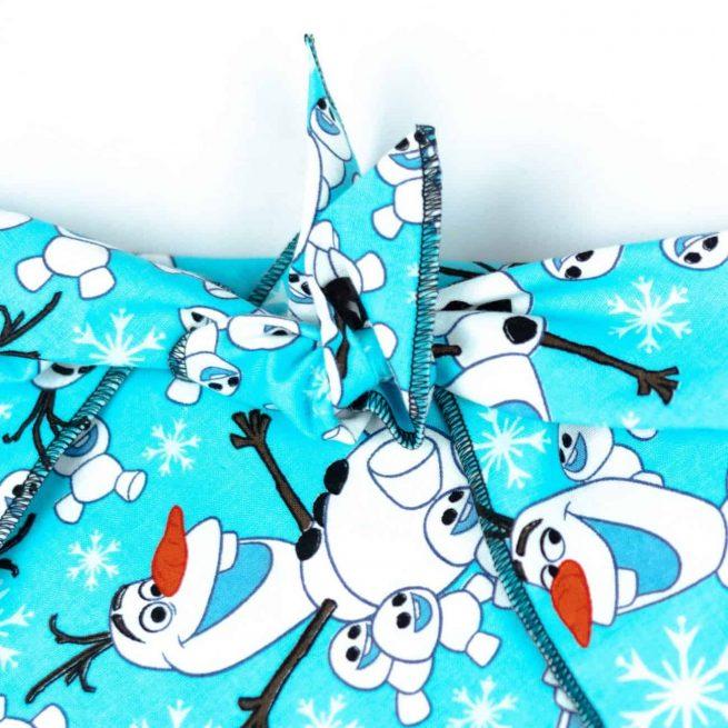 Turquoise Olaf Snowman Bandana