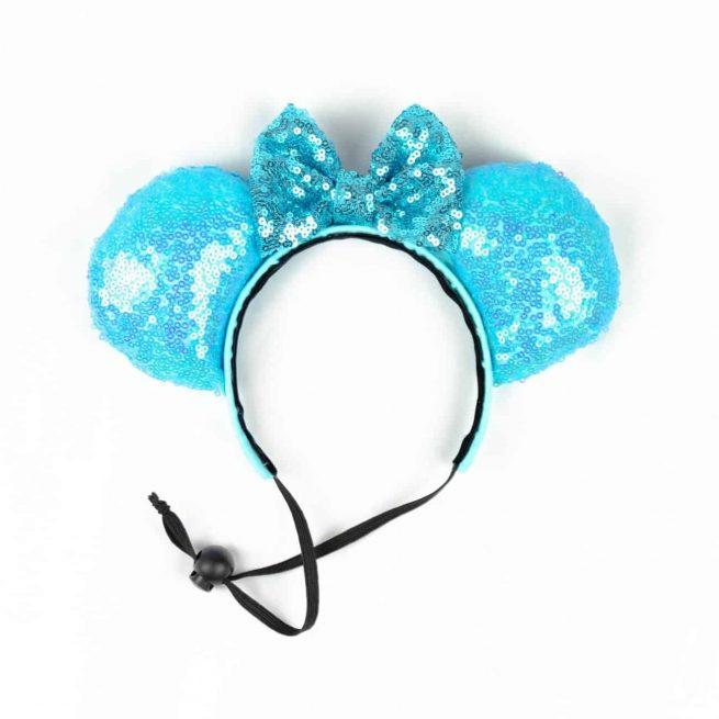 Light Blue Sequin Disney Minnie Ears