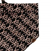 xoxo rose gold pattern on black backround dog bandana