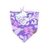 Purple, Pink and Light Blue floral dog bandana