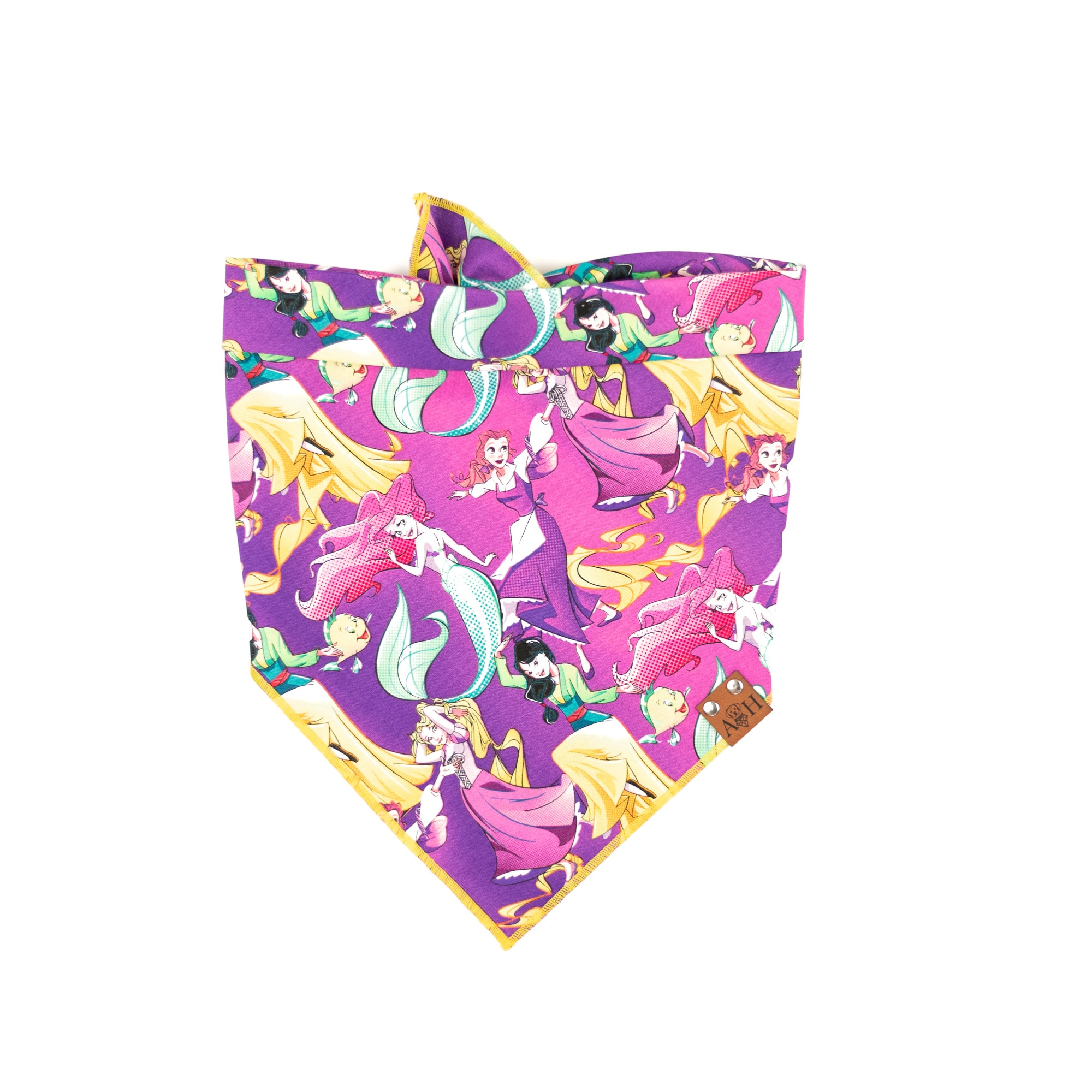Purple and Yellow Princess Dog Bandana