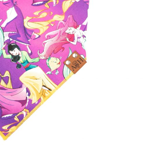 Purple and Yellow Princess Dog Bandana
