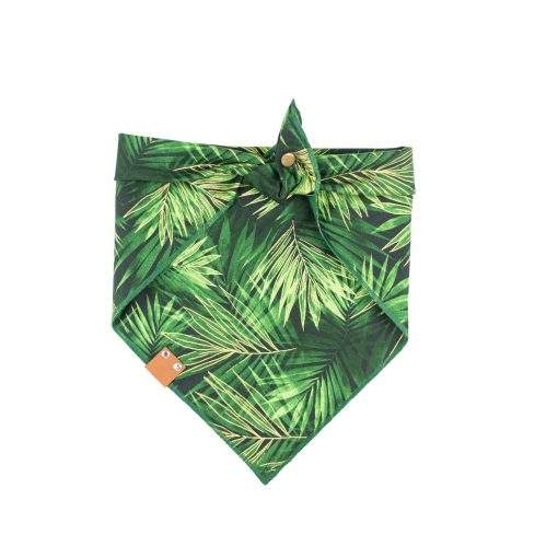 green and gold Fronds Dog Bandana