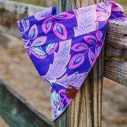 Pink and purple flower dog bandana