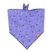 Purple spider web halloween dog bandana