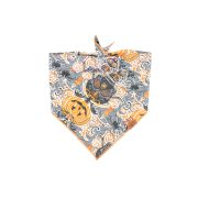 Halloween Dog Bandana with skulls, bats, pumpkins and candles