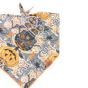 Halloween Dog Bandana with skulls, bats, pumpkins and candles