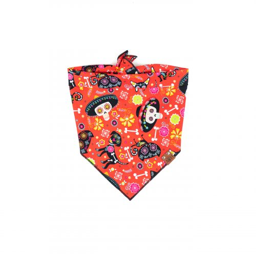 Sugar Skull Halloween Day of The Dead Dog Bandana