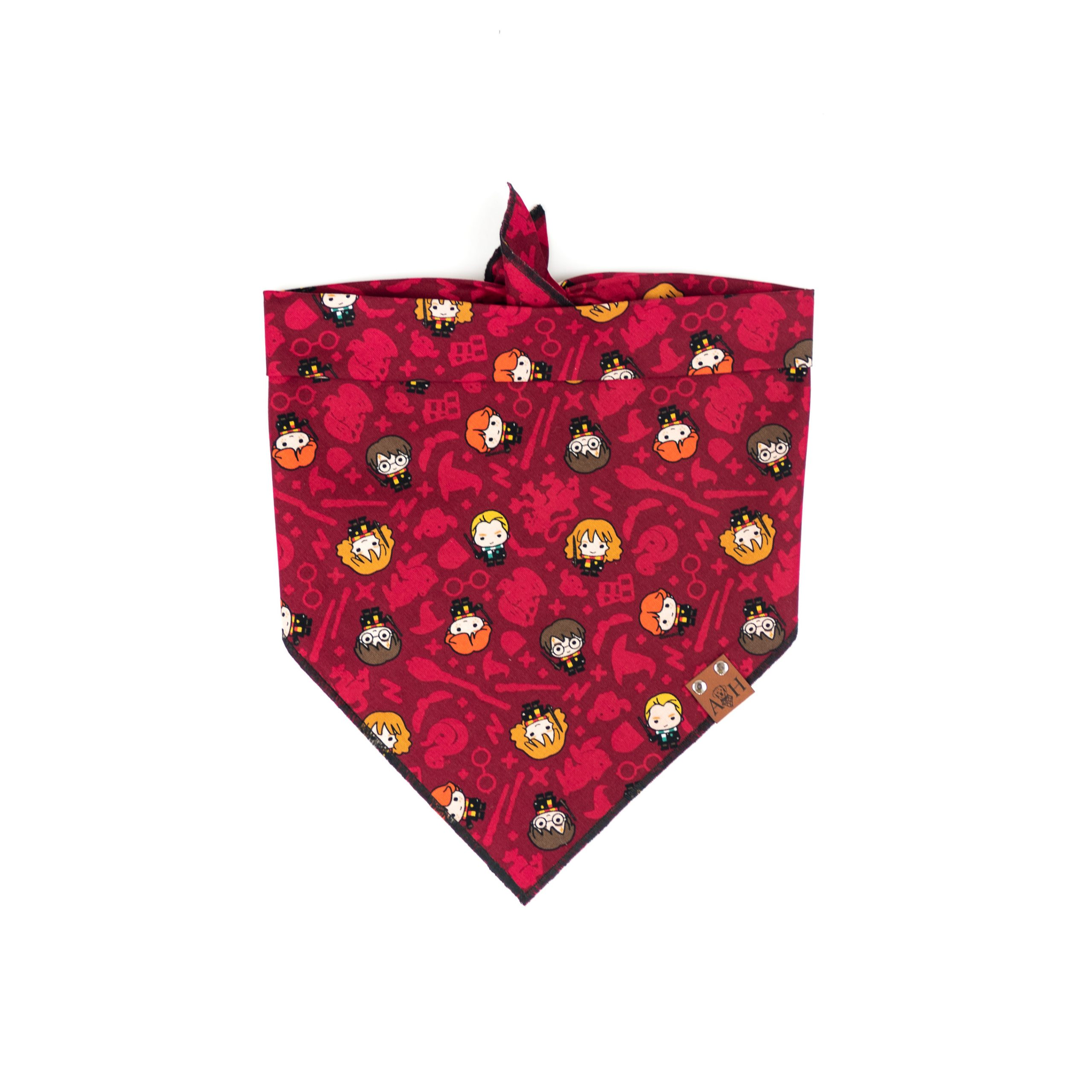 Maroon Dog Bandana featuring Harry Potter characters
