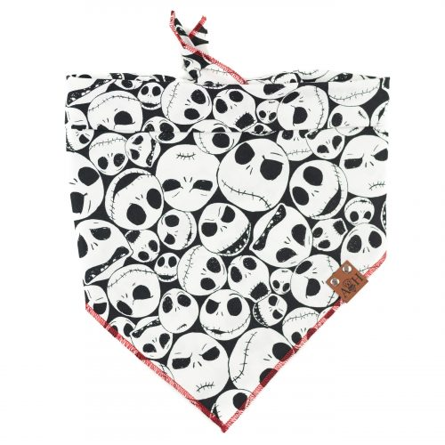 Black and white faces Jack Skellington Dog Bandana