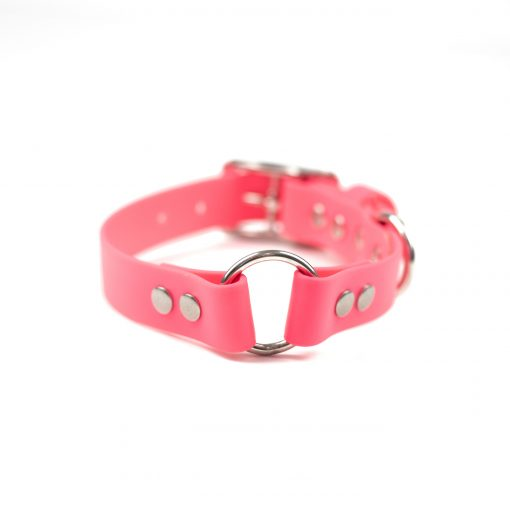 Pink, stainless steel center o-ring collar