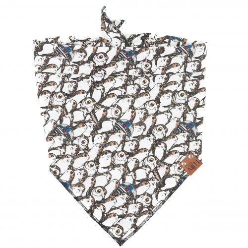 Porg Bandana with grey, brown and white Star Wars porg characters