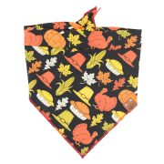 Thanksgiving dog bandana with corn, pies and turkeys