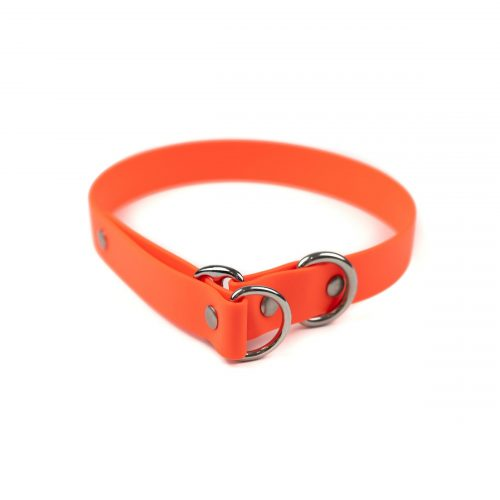 "orange and stainless steel classic 1"" limited slip collar"
