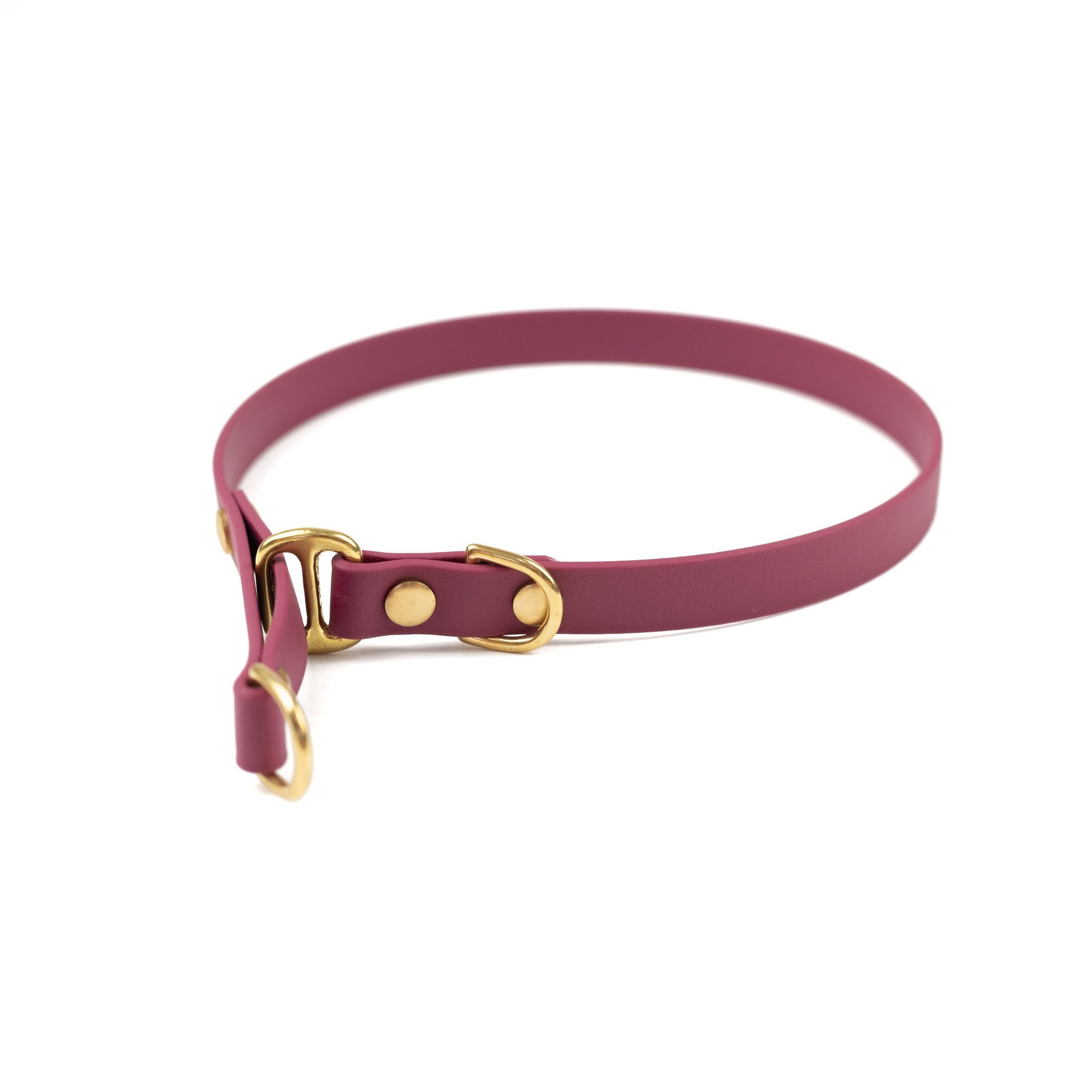 """burgundy 5/8"""" classic limited slip collar in solid brass"""