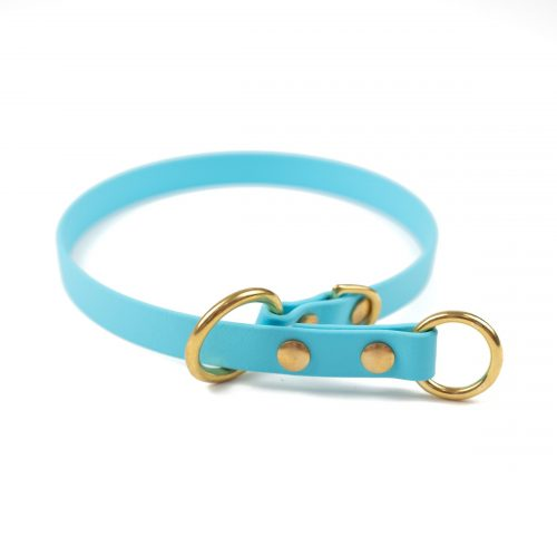 Sky blue slip collar