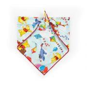 Winnie the pooh windy day dog bandana in blue
