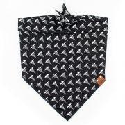black dog bandana with medical symbol