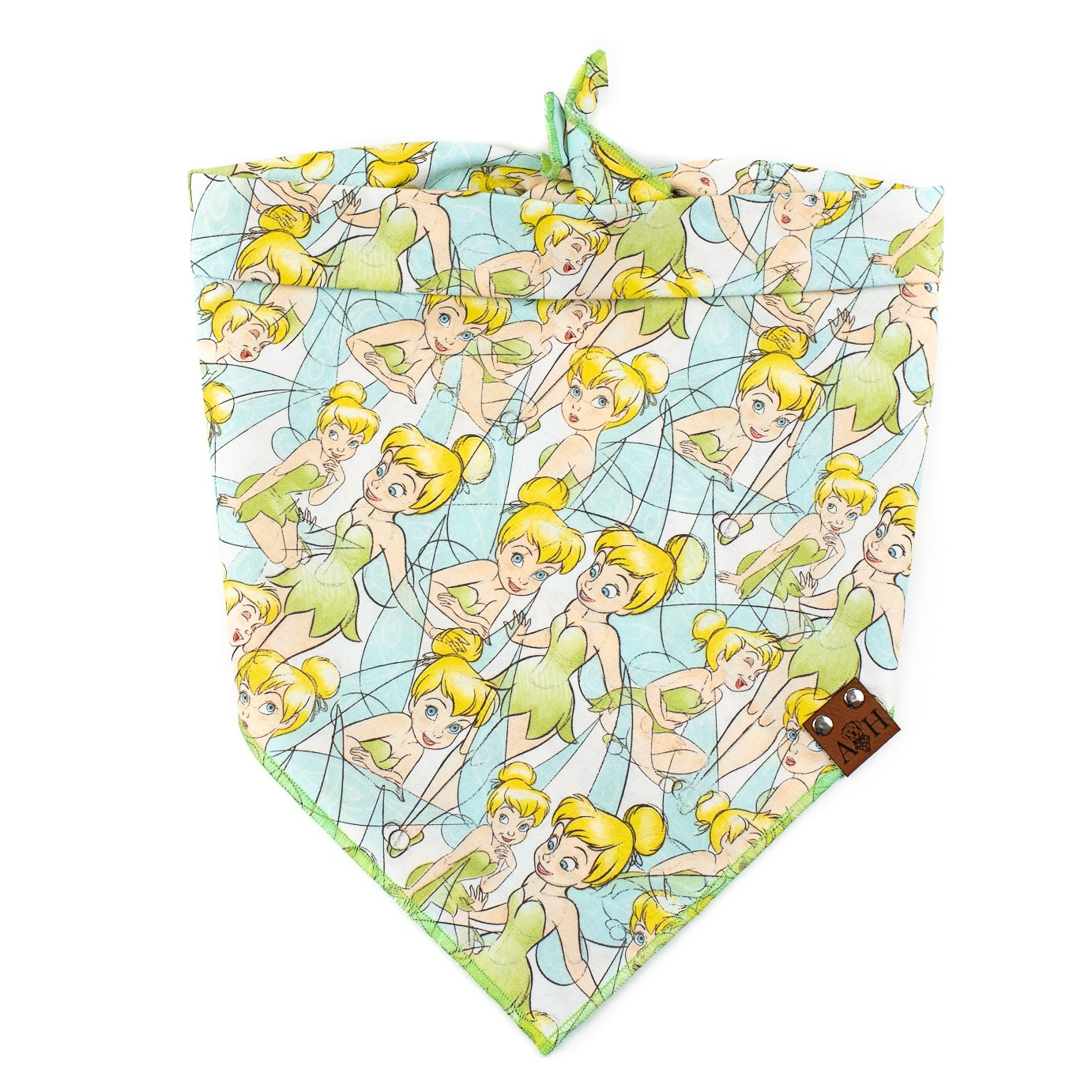Light Blue and Lime Green Tinker Bell Dog Bandana