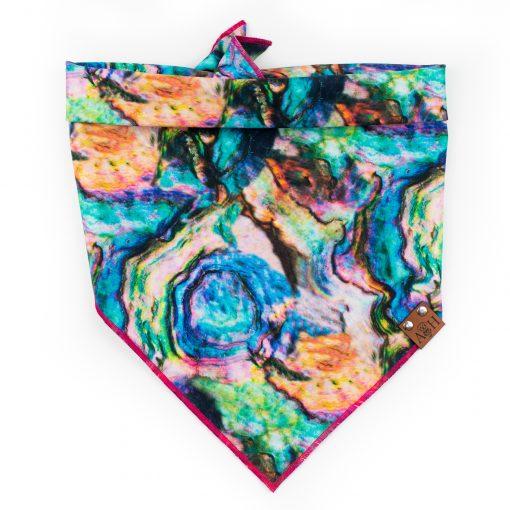 Rainbow swirl dog bandana